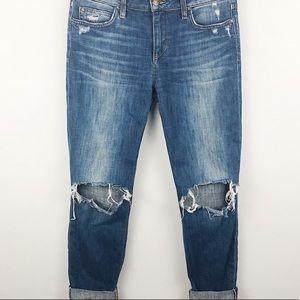Joes jeans markie crop skinny distressed